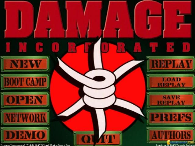 Damage Incorporated - game cover