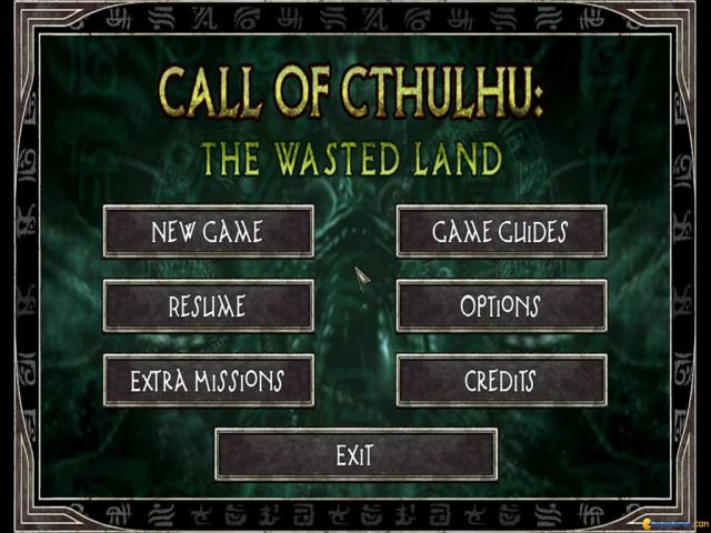 Call of Cthulhu: The Wasted Land - title cover