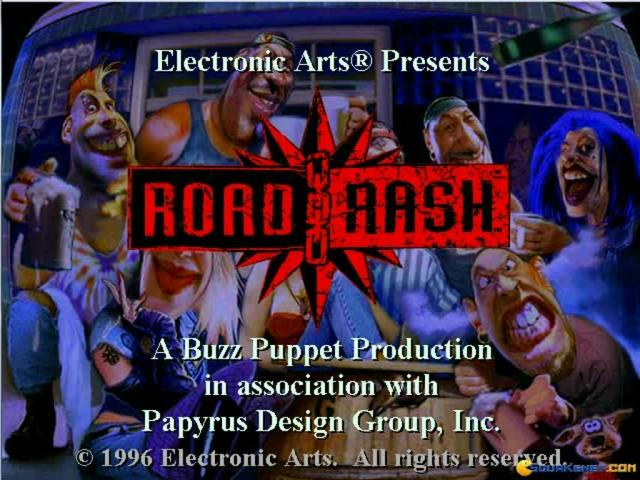 Road Rash - title cover