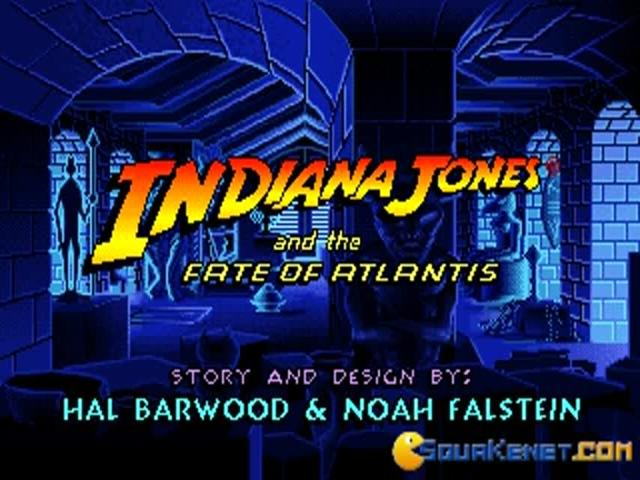 Indiana Jones and the Fate of Atlantis - title cover