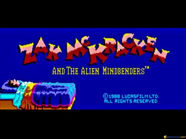 Zak McKracken and the Alien Mindbenders - title cover