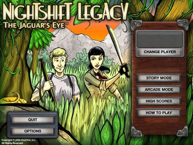 Nightshift Legacy: The Jaguar's Eye - title cover