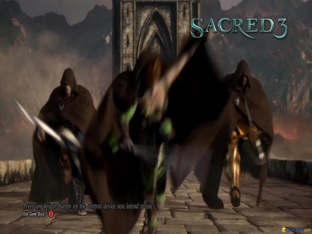 Sacred 3 - title cover