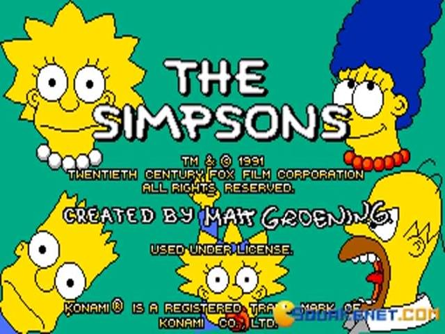 The Simpsons - game cover