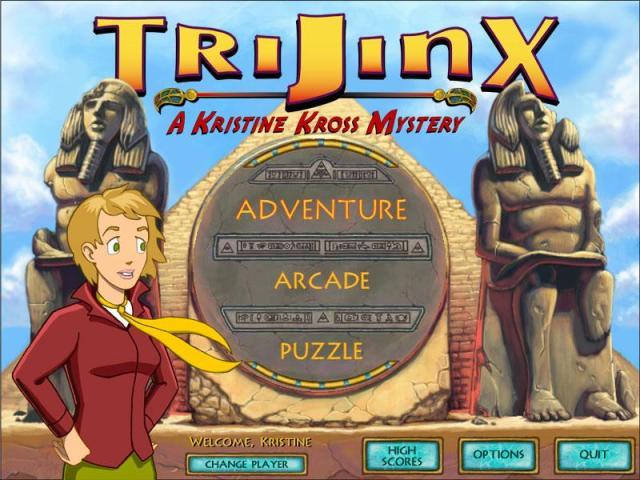 Trijinx: A Kristine Kross Mystery - title cover