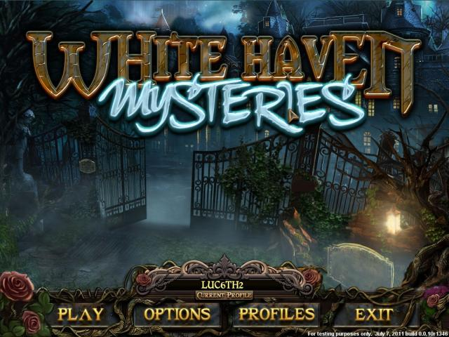 White Haven Mysteries - title cover