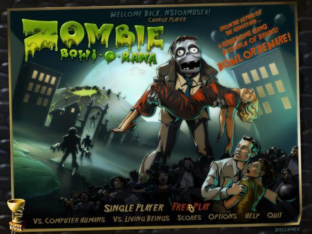 Zombie Bowl-O-Rama - title cover
