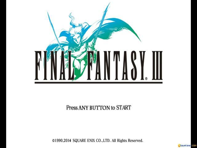 Final Fantasy III - title cover