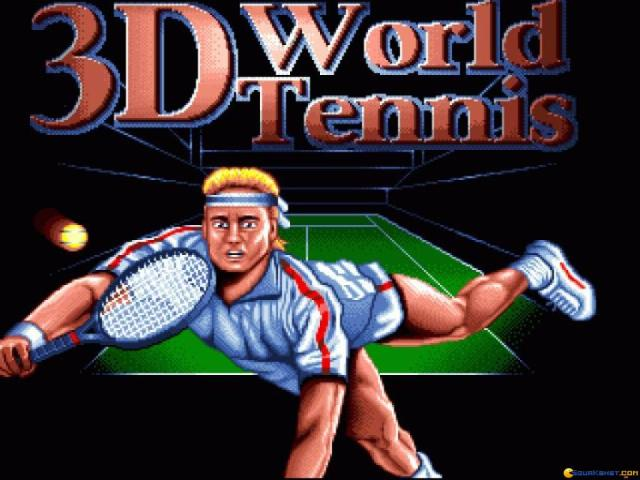 3D World Tennis - title cover