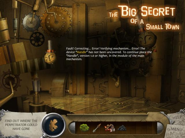 The Big Secret of a Small Town - title cover