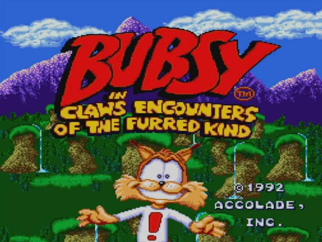 Bubsy Two-Fur - title cover