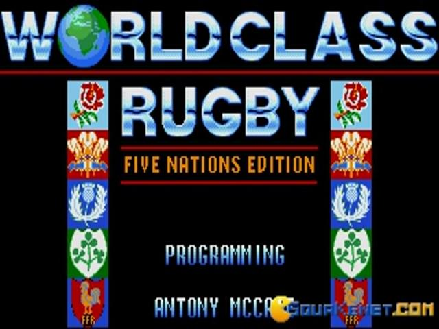 World Class Rugby: Five Nations - title cover