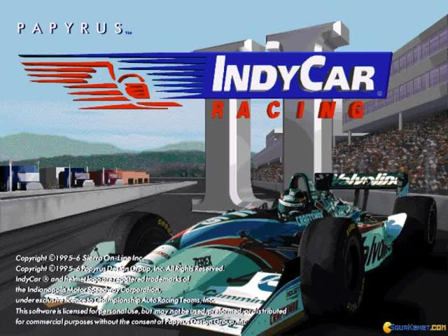 Indycar Racing 2 - title cover