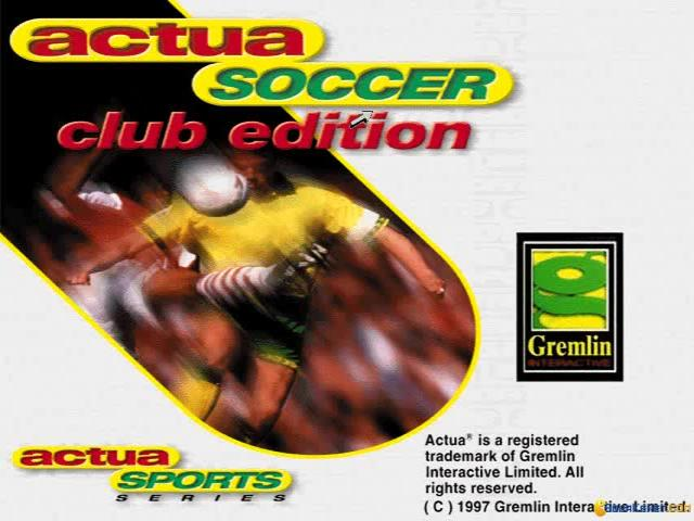 Actua Soccer Club edition - game cover
