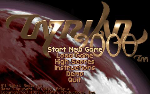 Tyrian 2000 - title cover