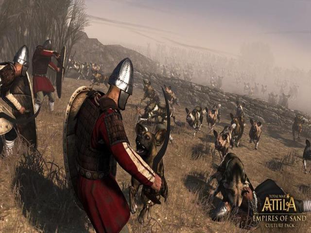 Total War Attila:  Empires of Sand - title cover