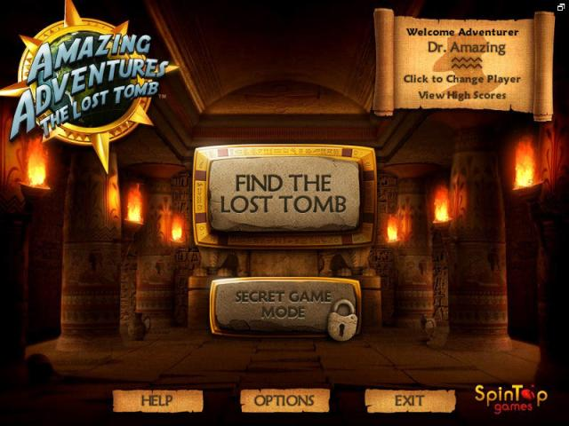 Amazing Adventures The Lost Tomb - title cover