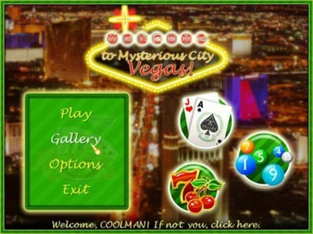 Mysterious City: Vegas - title cover