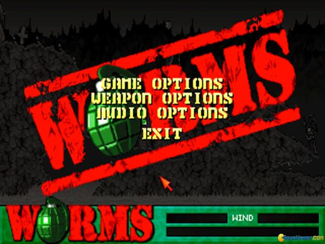Worms: Reinforcements - title cover
