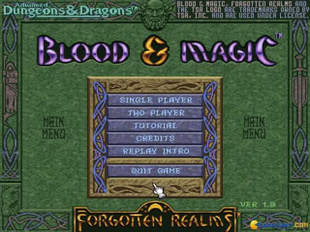 Blood & Magic - game cover