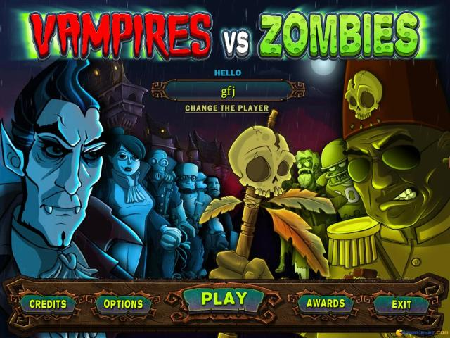 Vampires vs. Zombies - game cover
