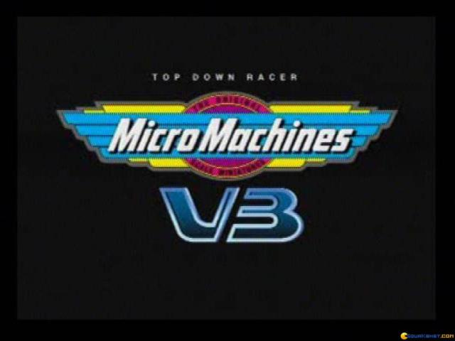 Micro Machines V3 - title cover