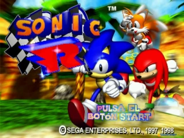 Sonic R - game cover