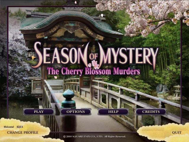 SEASON OF MYSTERY: The Cherry Blossom Murders - title cover