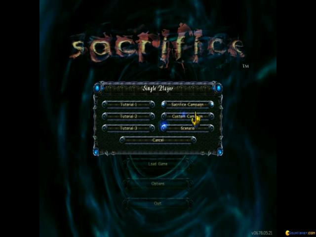 Sacrifice - game cover