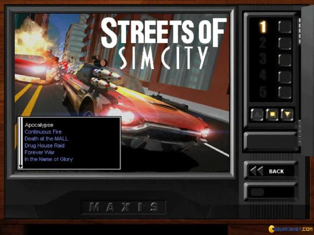 Streets of SimCity - title cover