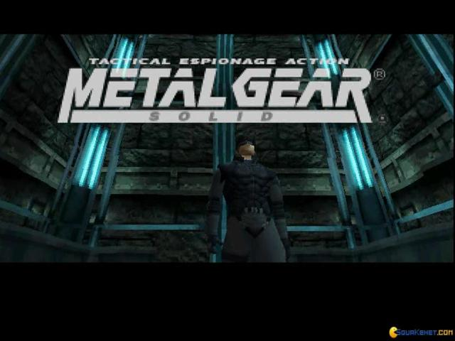 Metal Gear Solid - title cover