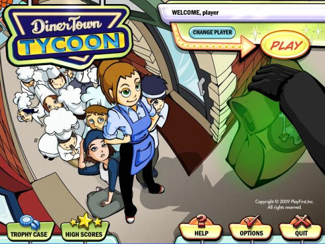 DinerTown Tycoon - title cover