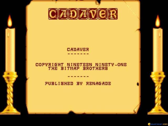 Cadaver: the Payoff - title cover