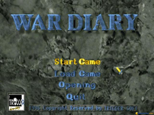 War Diary - title cover