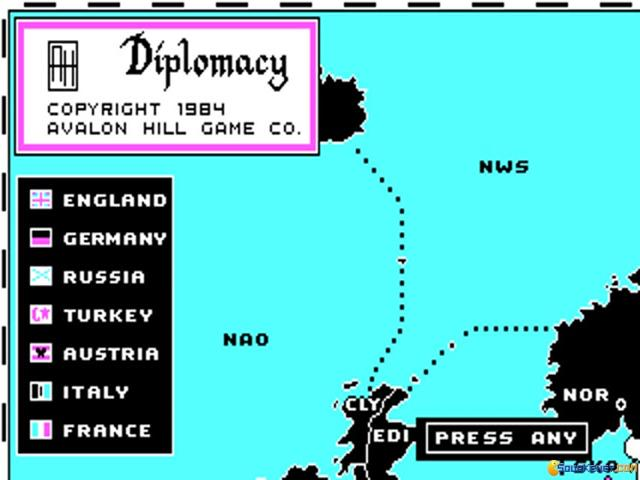 Computer Diplomacy - game cover