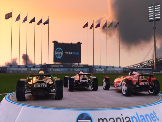 TrackMania² Stadium - title cover