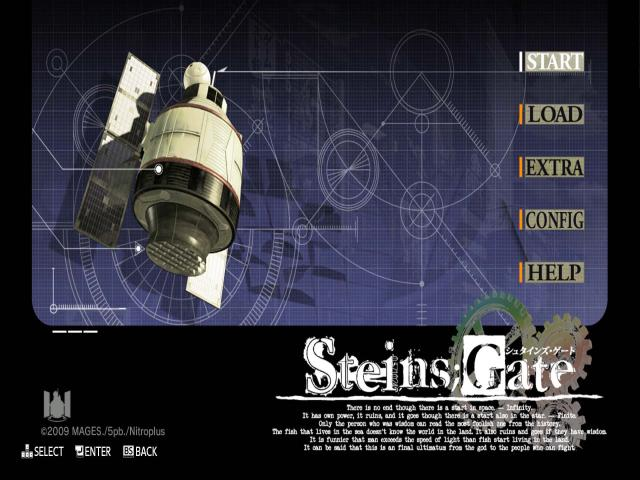 Steins;Gate - title cover