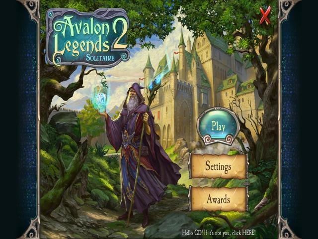 Avalon Legends Solitaire 2 - title cover