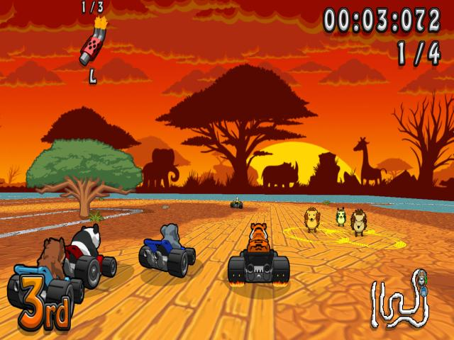 Wacky Wheels HD - title cover