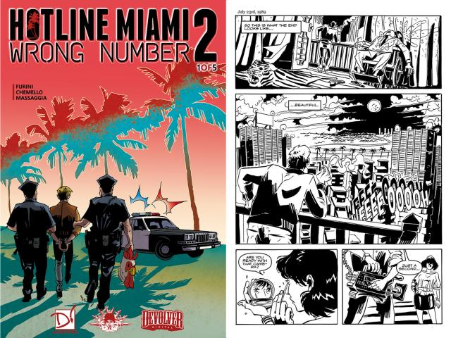 Hotline Miami 2: Wrong Number Digital Comic - title cover