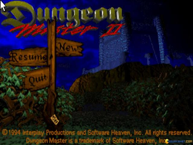 Dungeon Master 2: The Legend of the Skullkeep - title cover