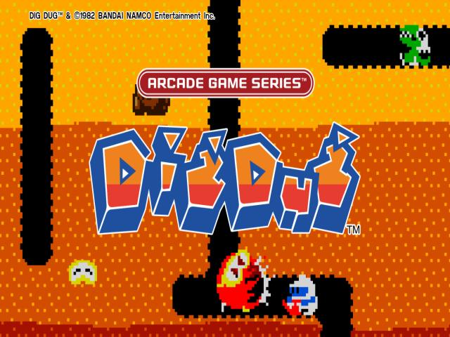 Arcade game series: Dig Dug - title cover
