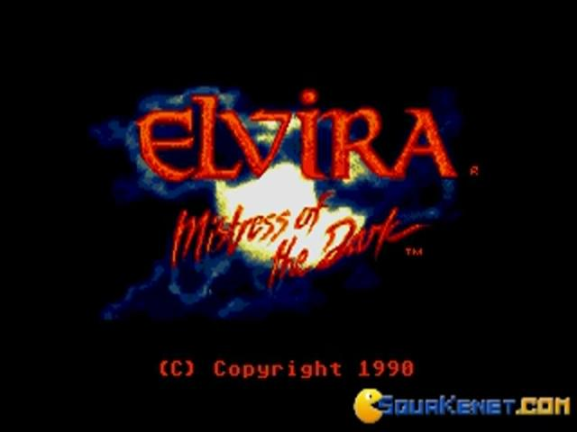 Elvira: Mistress Of The Dark - title cover