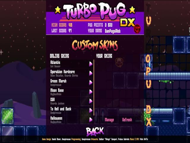 Turbo Pug DX - title cover