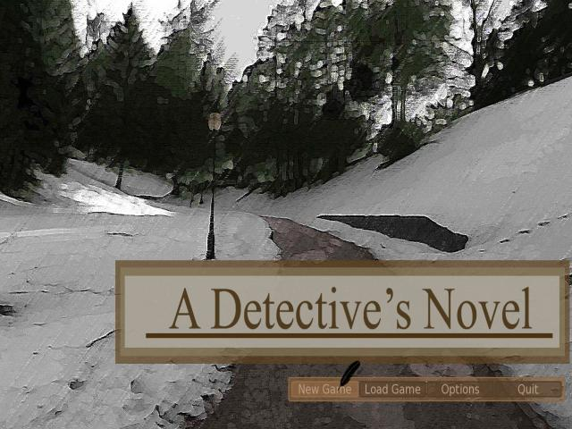 A Detective's Novel - title cover