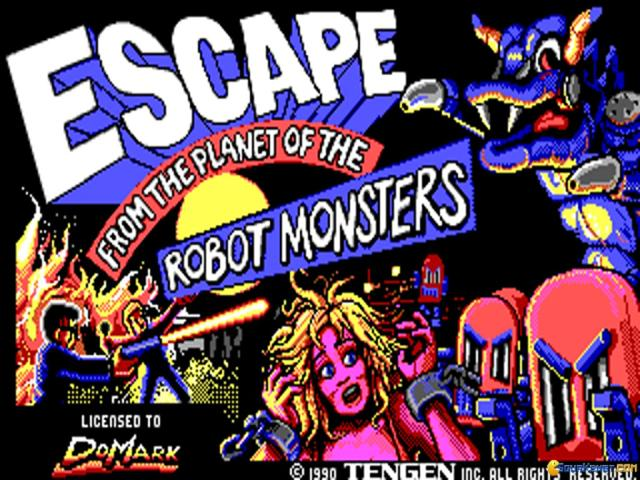 Escape from the Planet of the Robot Monsters - title cover