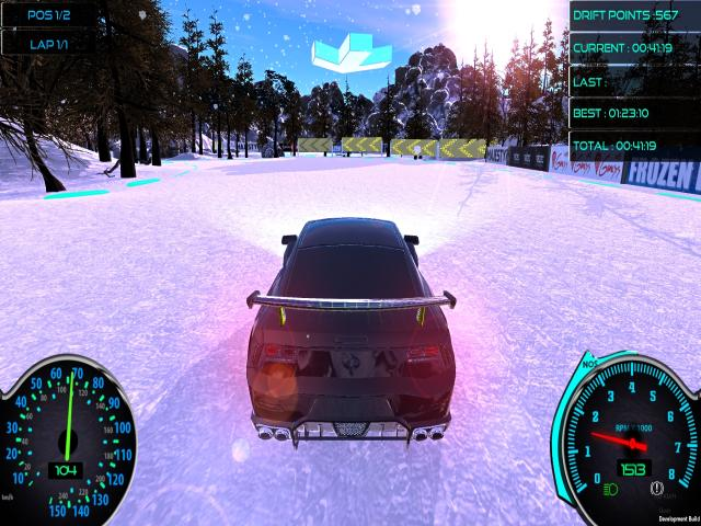Frozen Drift Race - title cover