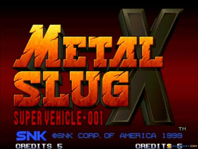 METAL SLUG X - game cover
