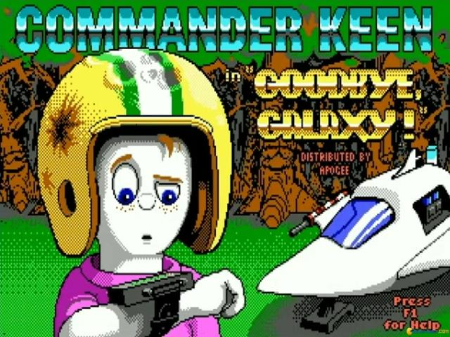 Commander Keen: Goodbye Galaxy - game cover
