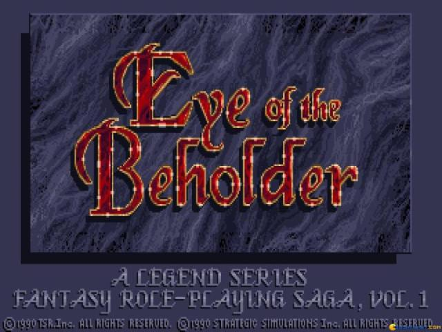 Eye of the Beholder - title cover